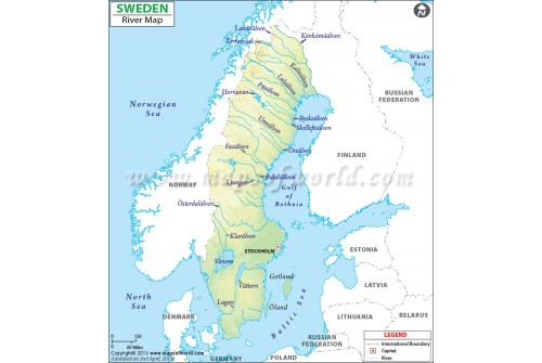 Sweden River Map