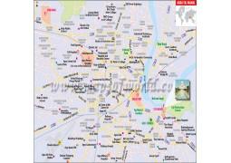 Taj Mahal Location Map