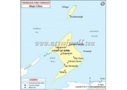 Trinidad and Tobago Cities Map