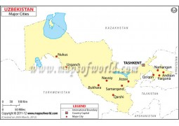 Uzbekistan Cities Map