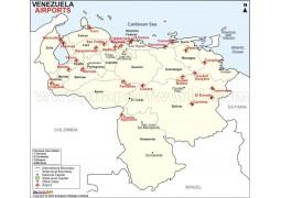 Venezuela Airports Map