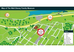 Walt Disney Family Museum Map