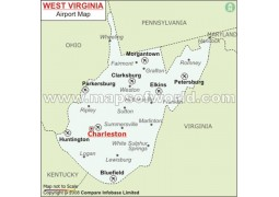 West Virginia Airports Map