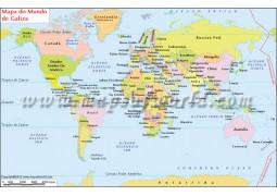Mapa Do Mundo de Galiza(World Map in Galician Language)