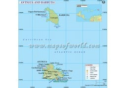 Antigua-Barbuda Country Map