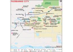 Fairbanks City Map