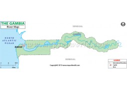The Gambia River Map