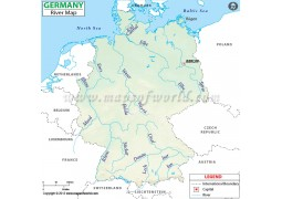 Germany River Map