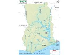 Ghana River Map
