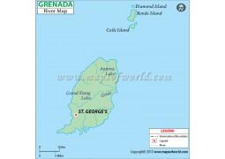 Grenada River Map