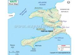 Haiti River Map