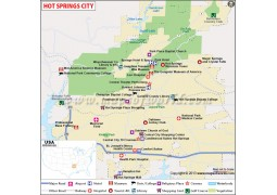 Hot Springs City Map