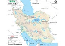 Iran River Map