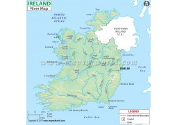 Ireland River Map