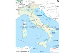 Italy River Map