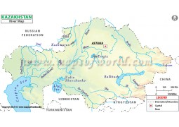 Kazakhstan River Map