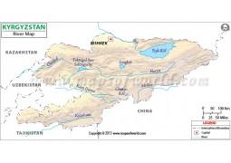 Kyrgyzstan River Map
