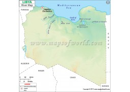 Libya River Map