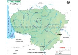 Lithuania River Map