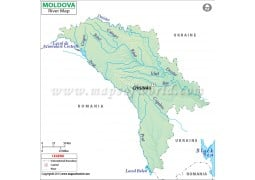 Moldova River Map