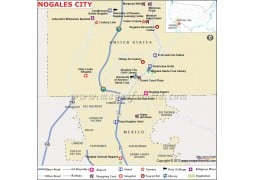 Nogales City Map