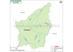 San Marino River Map