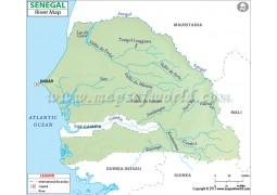 Senegal River Map
