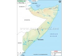 Somalia River Map
