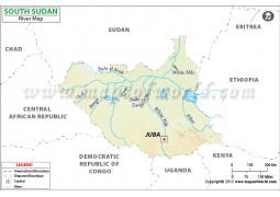 South Sudan River Map