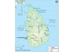 Sri Lanka River Map