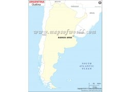 Argentina Outline Map