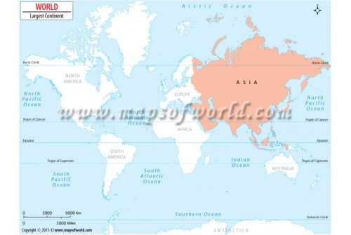 World Largest Continent Map