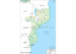 Mozambique River Map