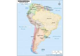 Südamerika Politische Karte (South America Political Map)