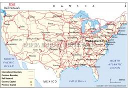 US Rail Network Map