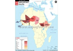 African Countries With Lowest Literacy Rate Map