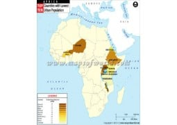 African Countries With Lowest Urban Population Map