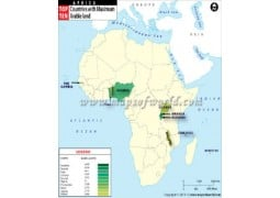 African Countries with Maximum Arable Land Map