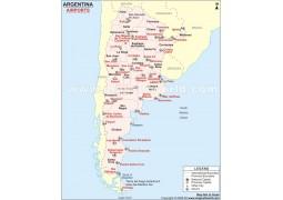 Argentina Airport Map