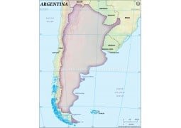 Argentina Blank Map, Dark Green