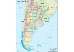 Argentina State Map