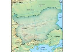 Bulgaria Blank Map, Dark Green