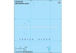 Chagos Blank Map, Green