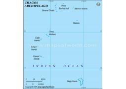 Chagos Political Map, Green