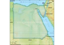 Egypt Blank Map, Dark Green