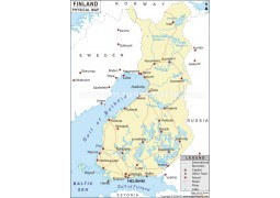 Finland Physical Map