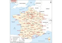 France Tourist Places Map
