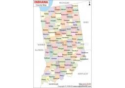 Indiana County Printed Wall Map
