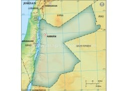 Jordan Blank Map, Dark Green