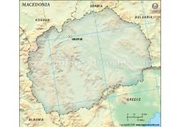 Macedonia Blank Map, Dark Green